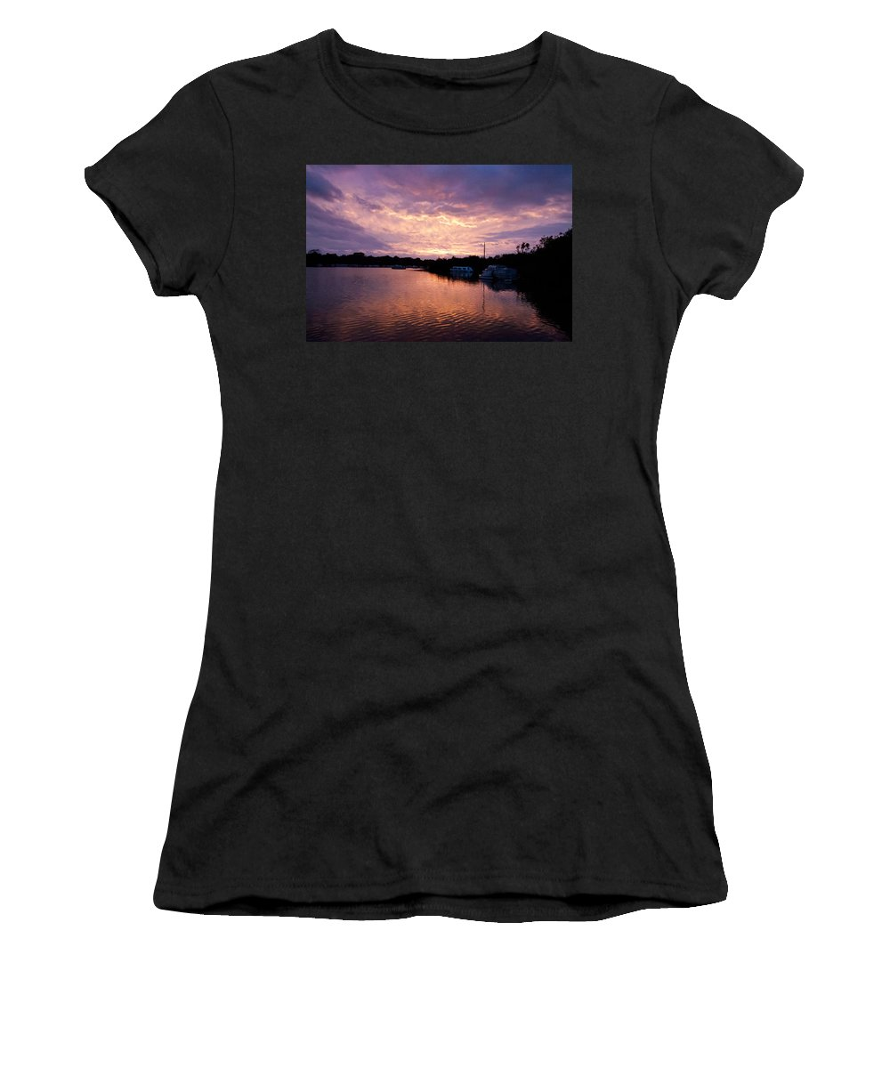 Norfolk Broads Women's T-Shirt featuring the photograph Malthouse Broad by Gavin Bates