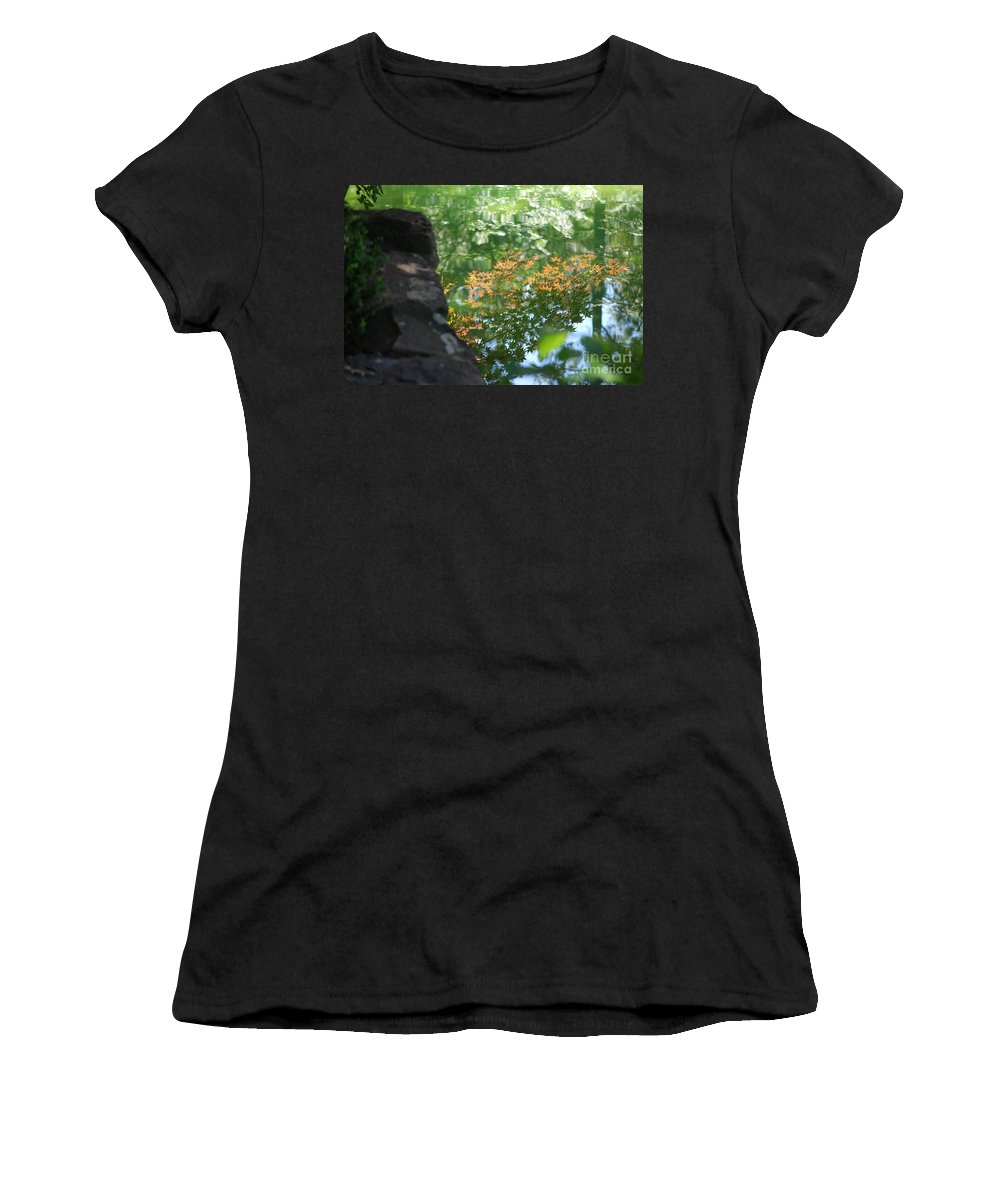 Maple Women's T-Shirt featuring the photograph Maple Reflections by Sharon Elliott
