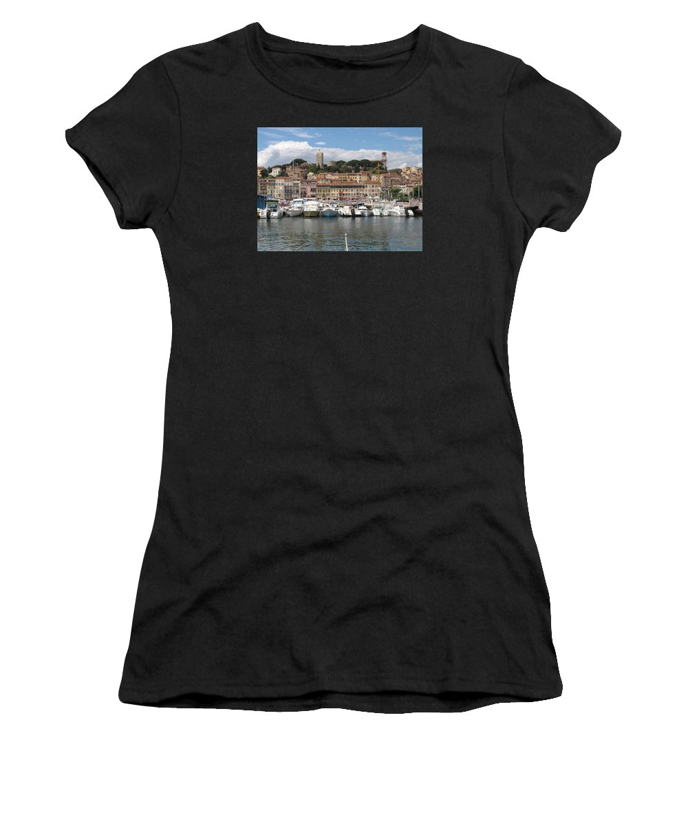Marina Women's T-Shirt (Athletic Fit) featuring the photograph Marina Cannes by Christiane Schulze Art And Photography