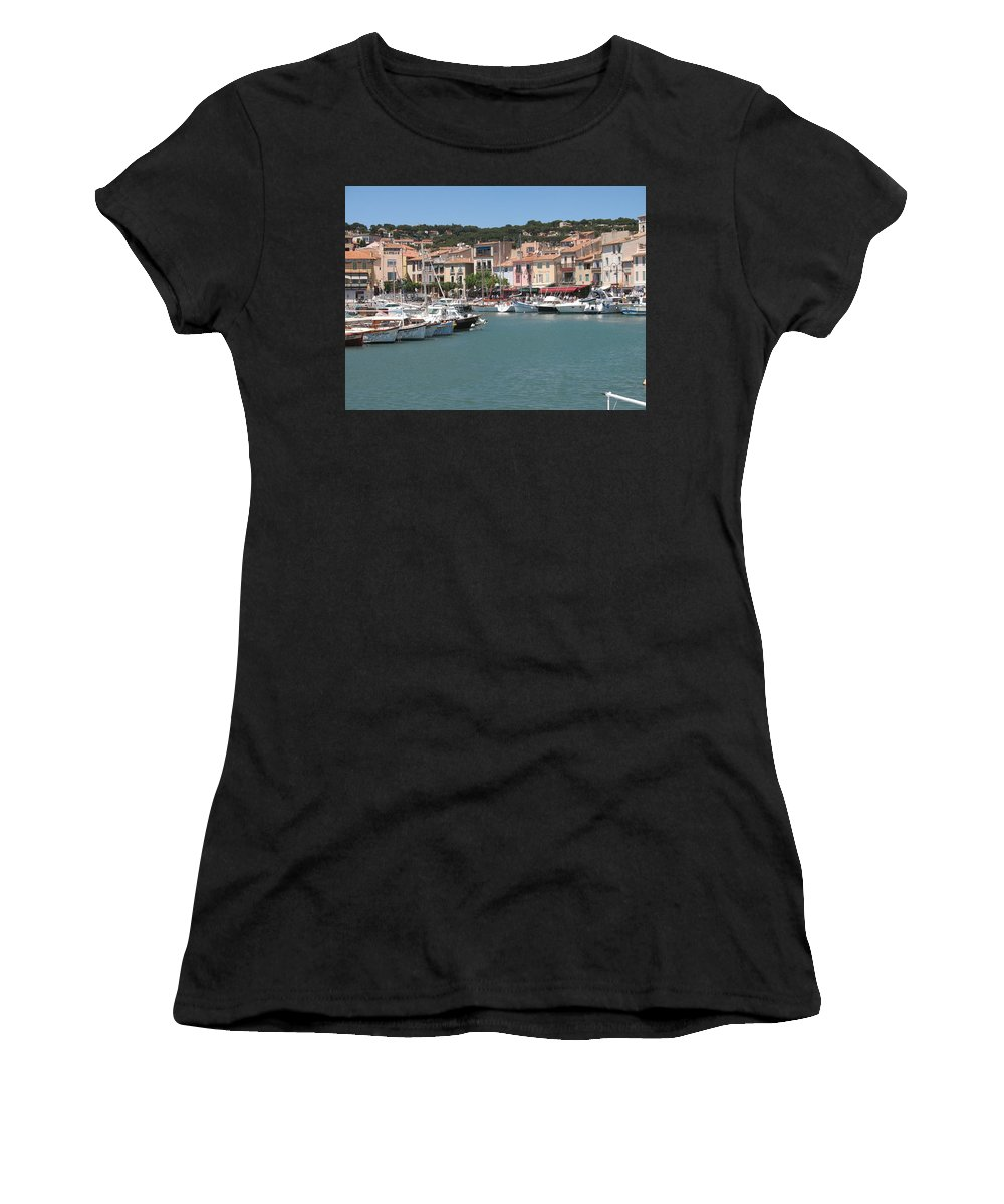 Harbor Women's T-Shirt featuring the photograph Marina Cassis by Christiane Schulze Art And Photography