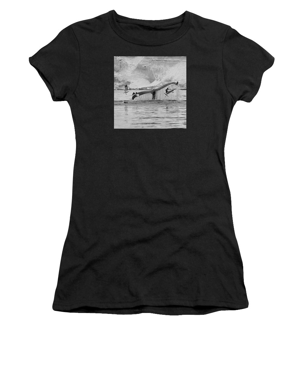 Festblues Women's T-Shirt (Athletic Fit) featuring the photograph Marine Excitement... by Nina Stavlund