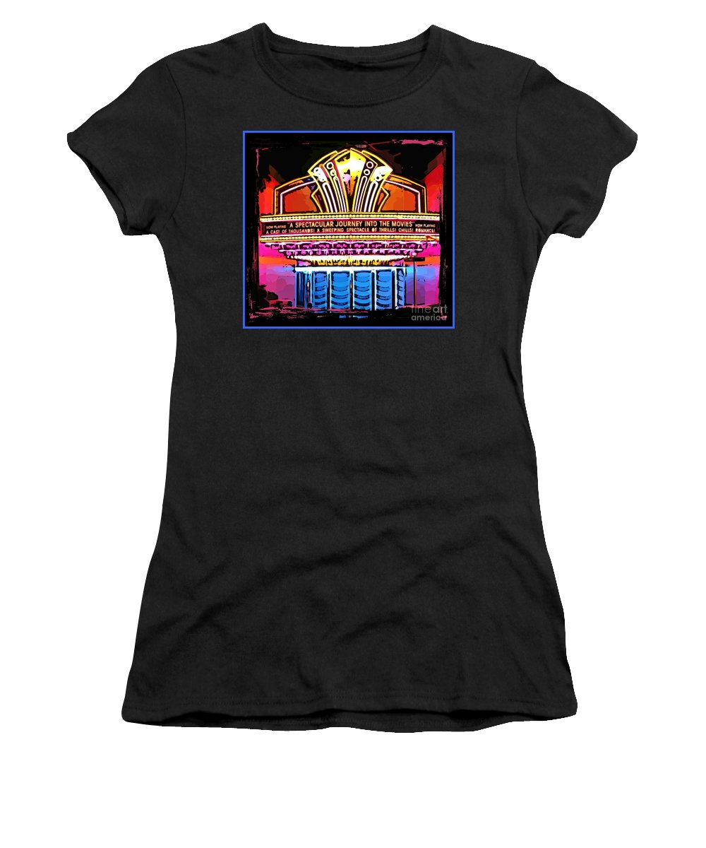 Marquee Women's T-Shirt featuring the photograph Marquee by John Malone