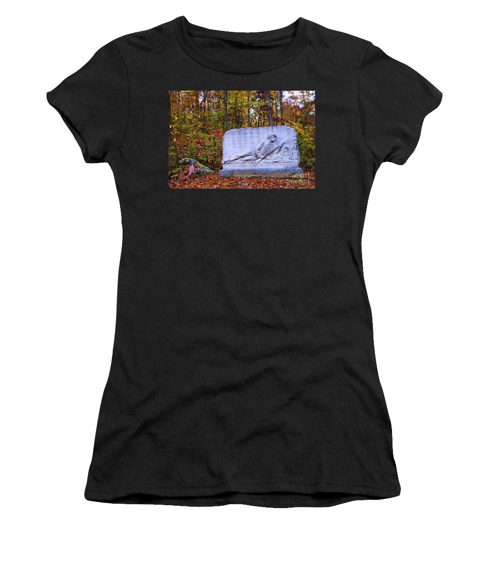 Civil War Women's T-Shirt featuring the photograph Maryland Monument At Gettysburg by Paul W Faust - Impressions of Light