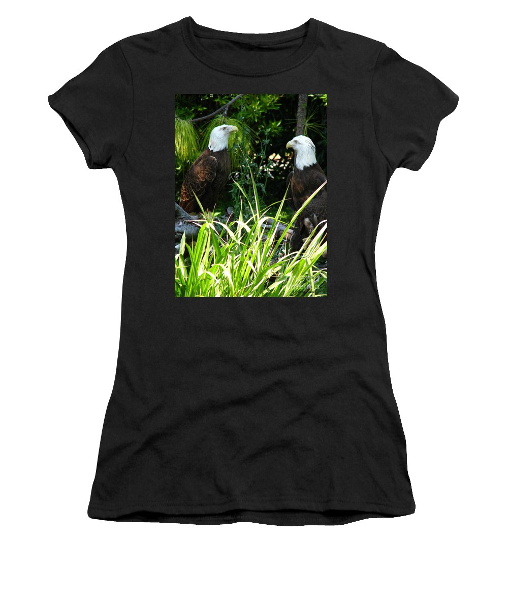 Patzer Women's T-Shirt (Athletic Fit) featuring the photograph Mates by Greg Patzer