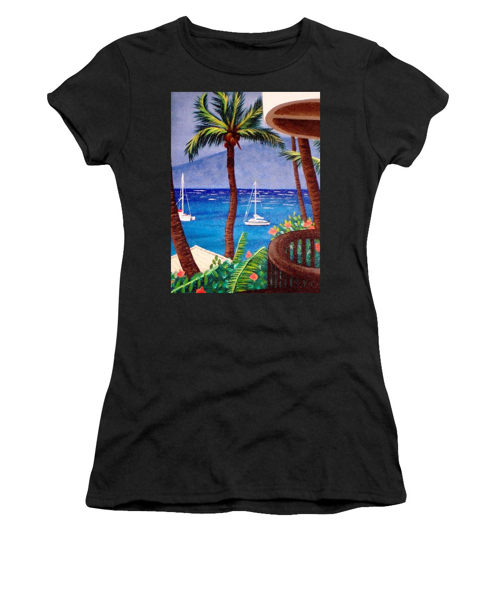 Hawaii Women's T-Shirt featuring the painting Maui by Liz Boston