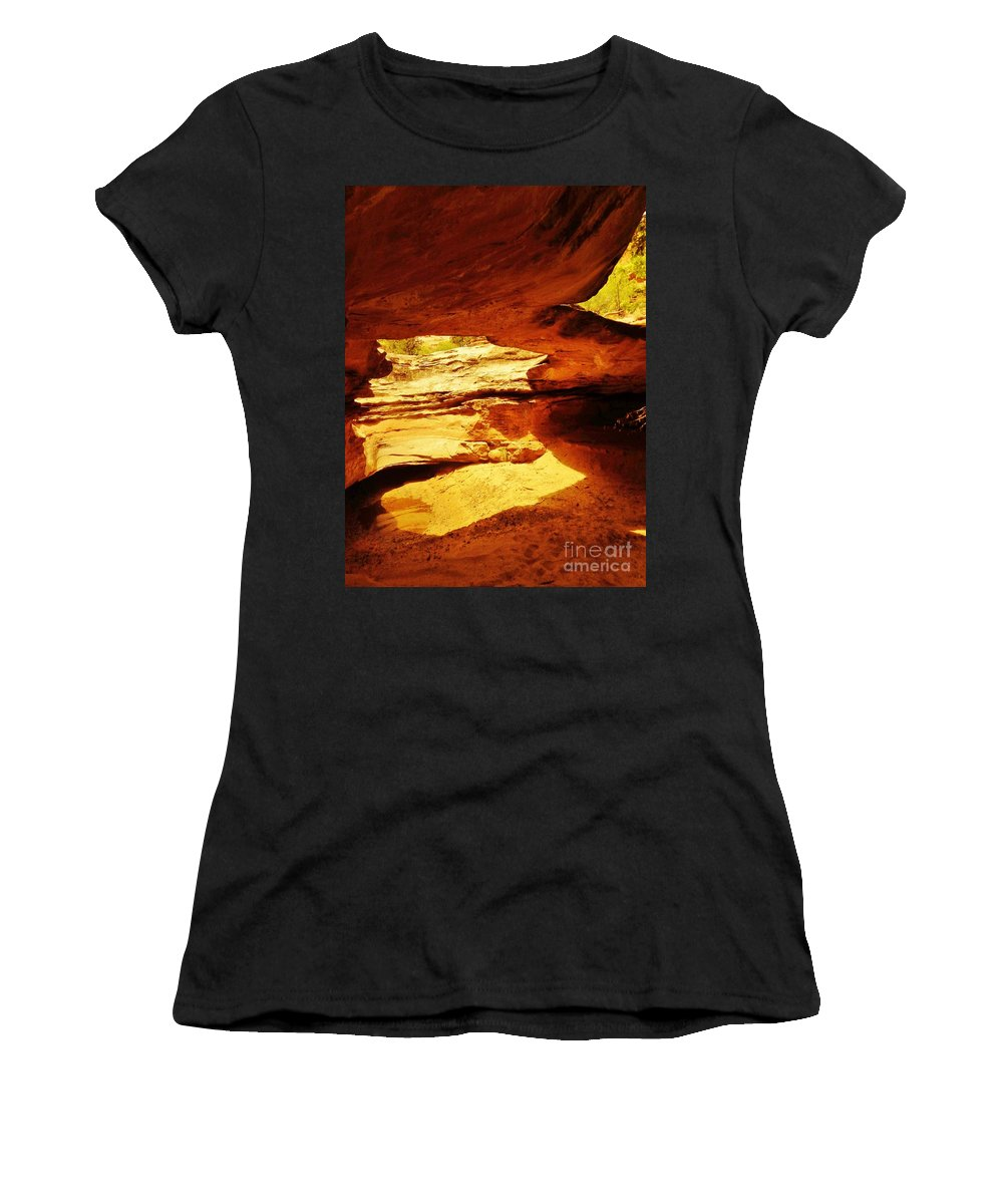 Natural Bridge Women's T-Shirt featuring the photograph Maverick Natural Bridge by Tonya Hance