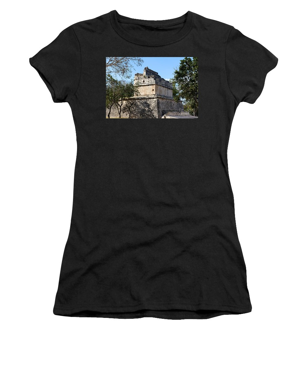America Women's T-Shirt featuring the photograph Mayan Ruin At Chichen Itza by Jannis Werner