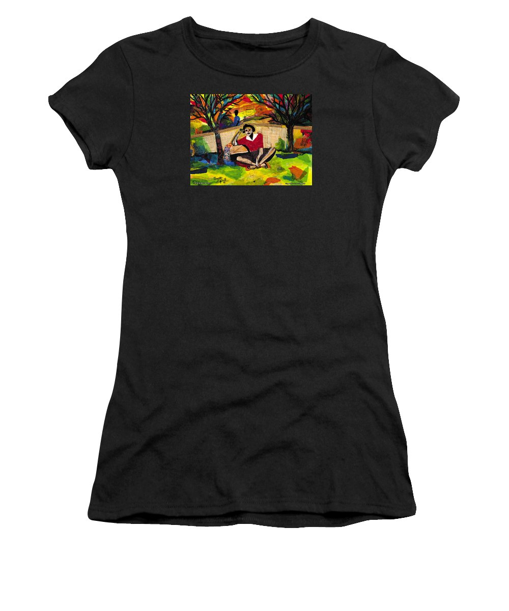 Everett Spruill Women's T-Shirt featuring the painting Me And Mom by Everett Spruill