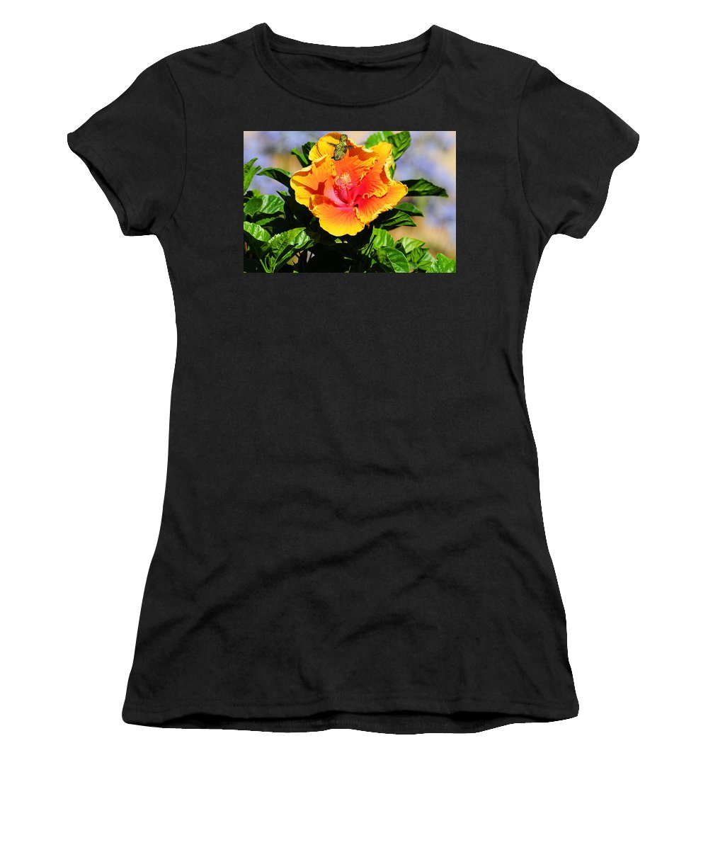 Hummers Women's T-Shirt (Athletic Fit) featuring the photograph Me And My Shadow by Lynn Bauer
