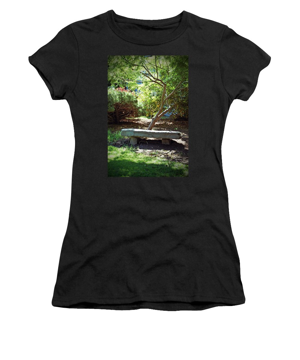 Meditation Women's T-Shirt (Athletic Fit) featuring the photograph Meditation Reflections by Holly Blunkall