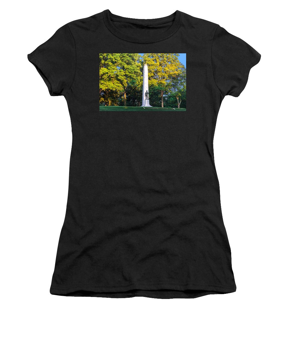 Fort Donelson Women's T-Shirt (Athletic Fit) featuring the photograph Memorial At Fort Donelson by Mary Almond