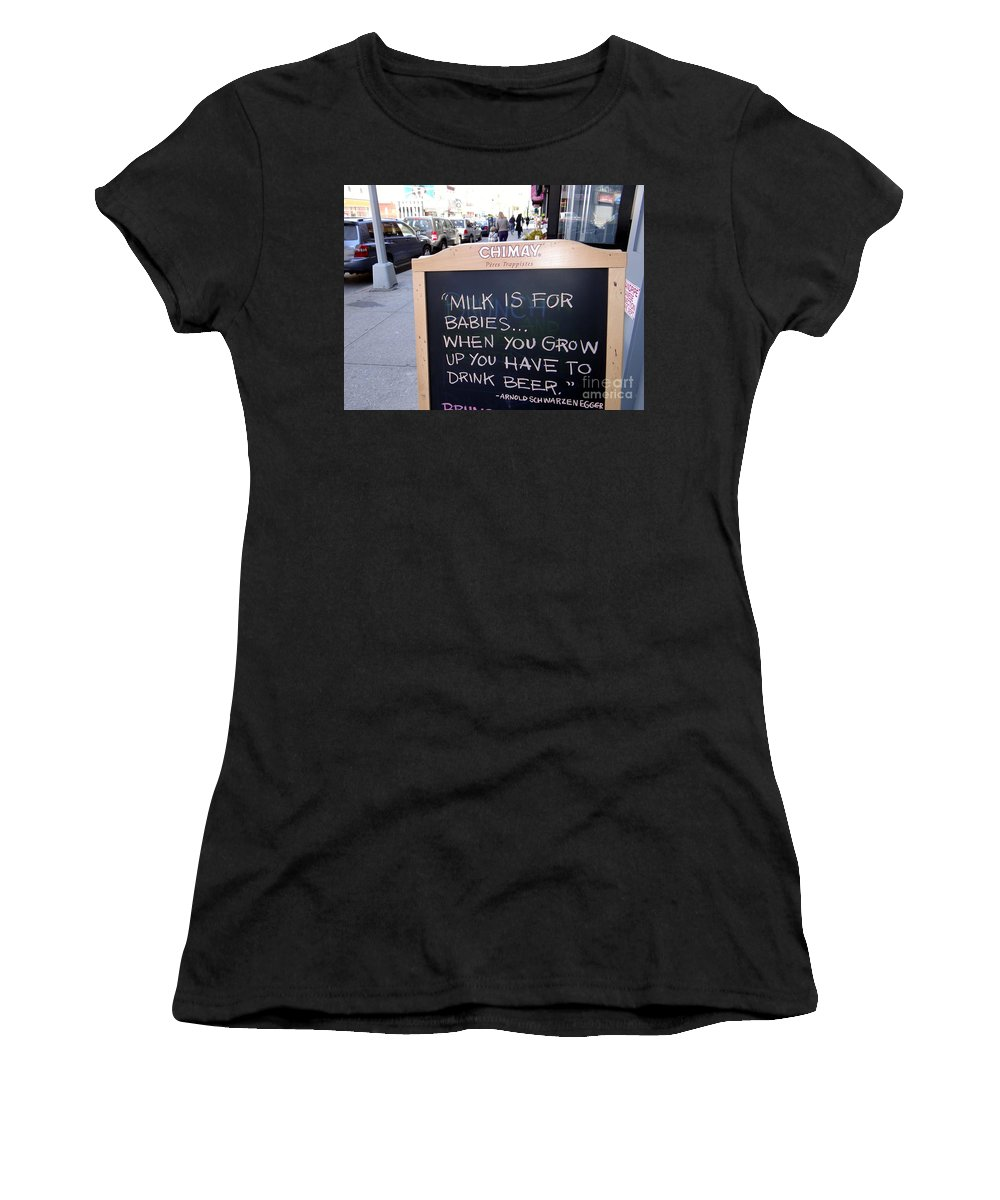 Sign Women's T-Shirt (Athletic Fit) featuring the photograph Milk Is For Babies by Ed Weidman