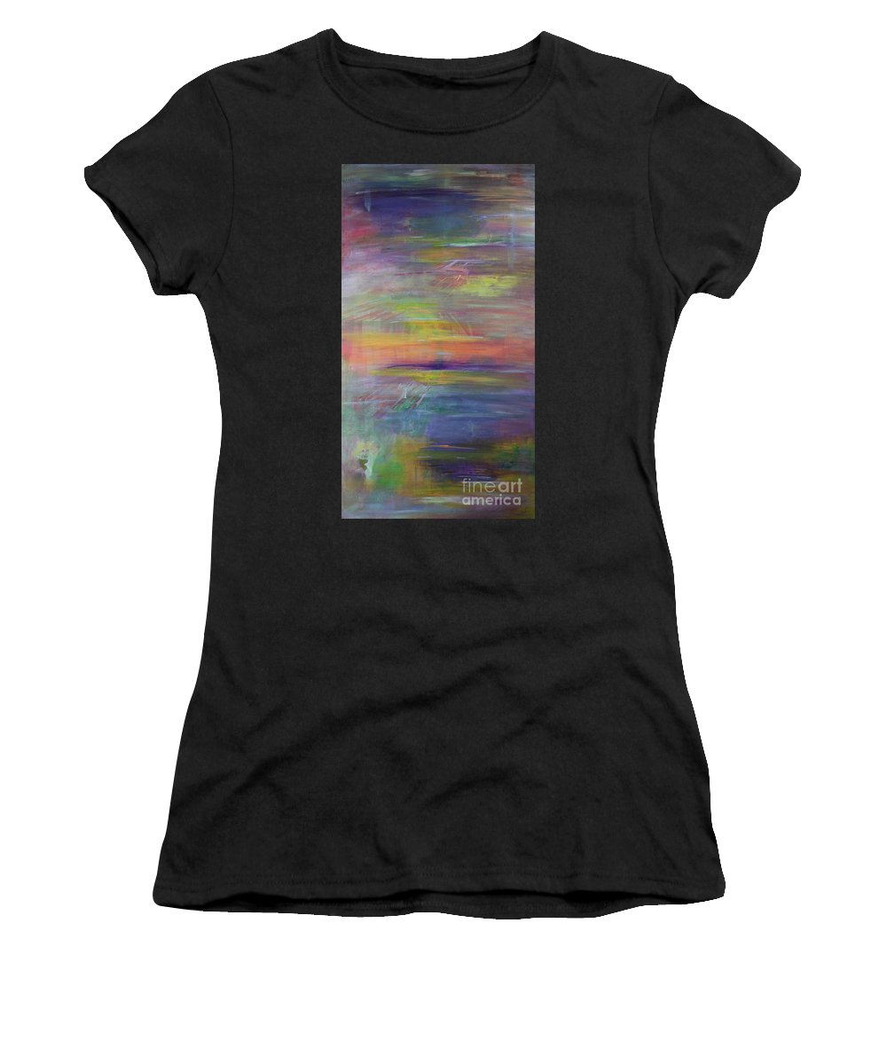 Abstract Painting Women's T-Shirt featuring the painting Mirage1a by Carrie Godwin