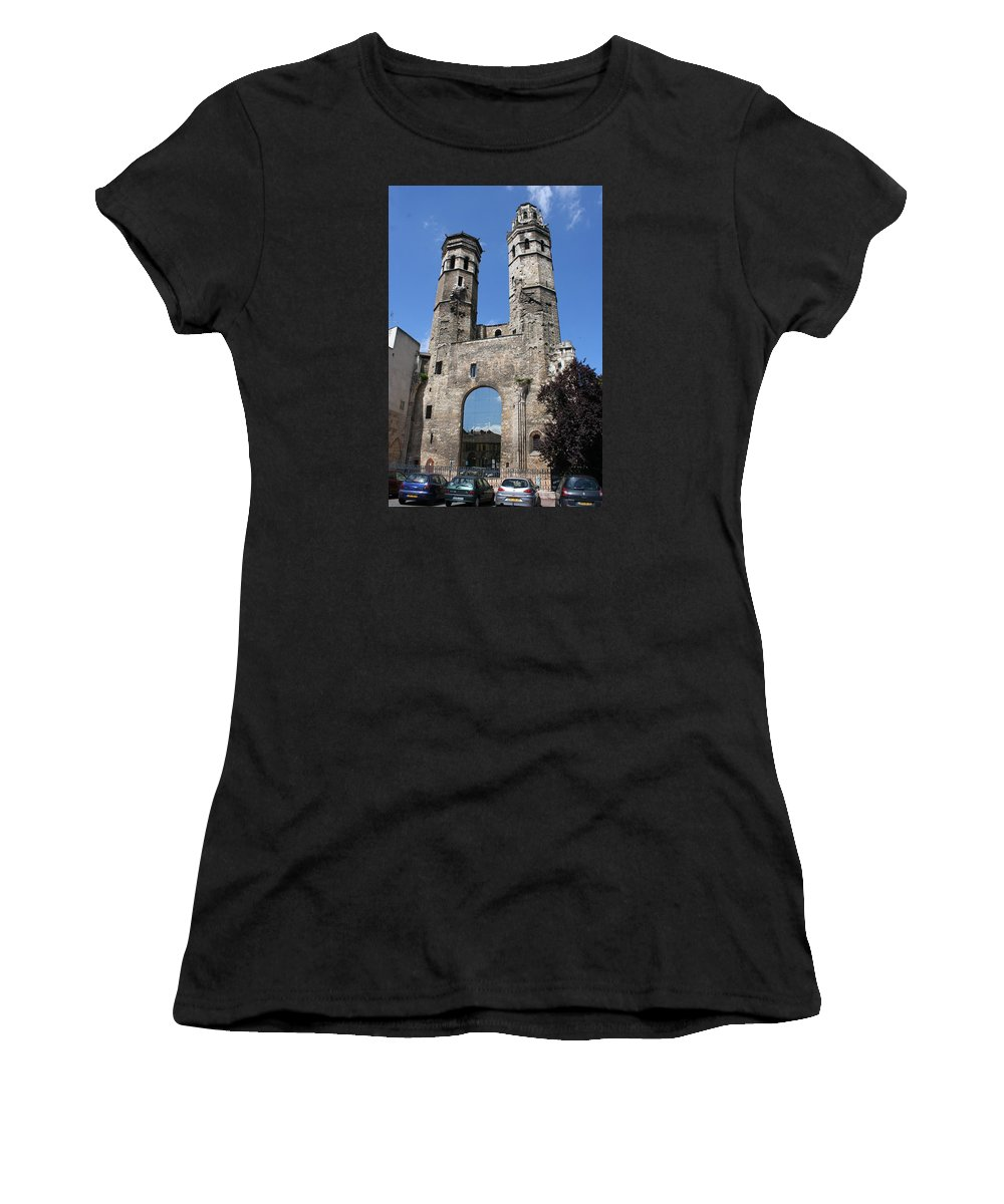 Church Women's T-Shirt (Athletic Fit) featuring the photograph Mirrored Portal - Macon by Christiane Schulze Art And Photography