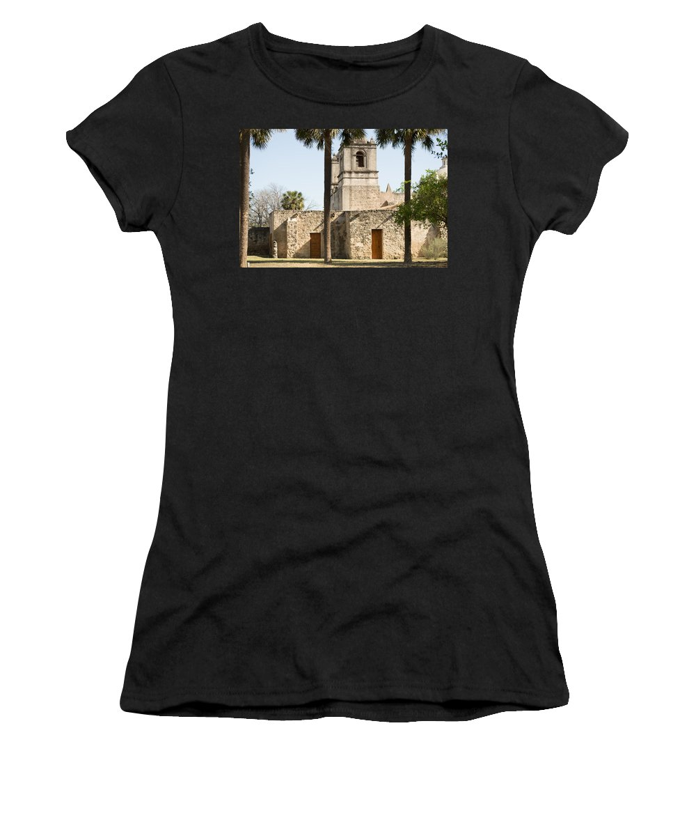Texas Women's T-Shirt featuring the photograph Mission Concepcion In San Antonio by JG Thompson