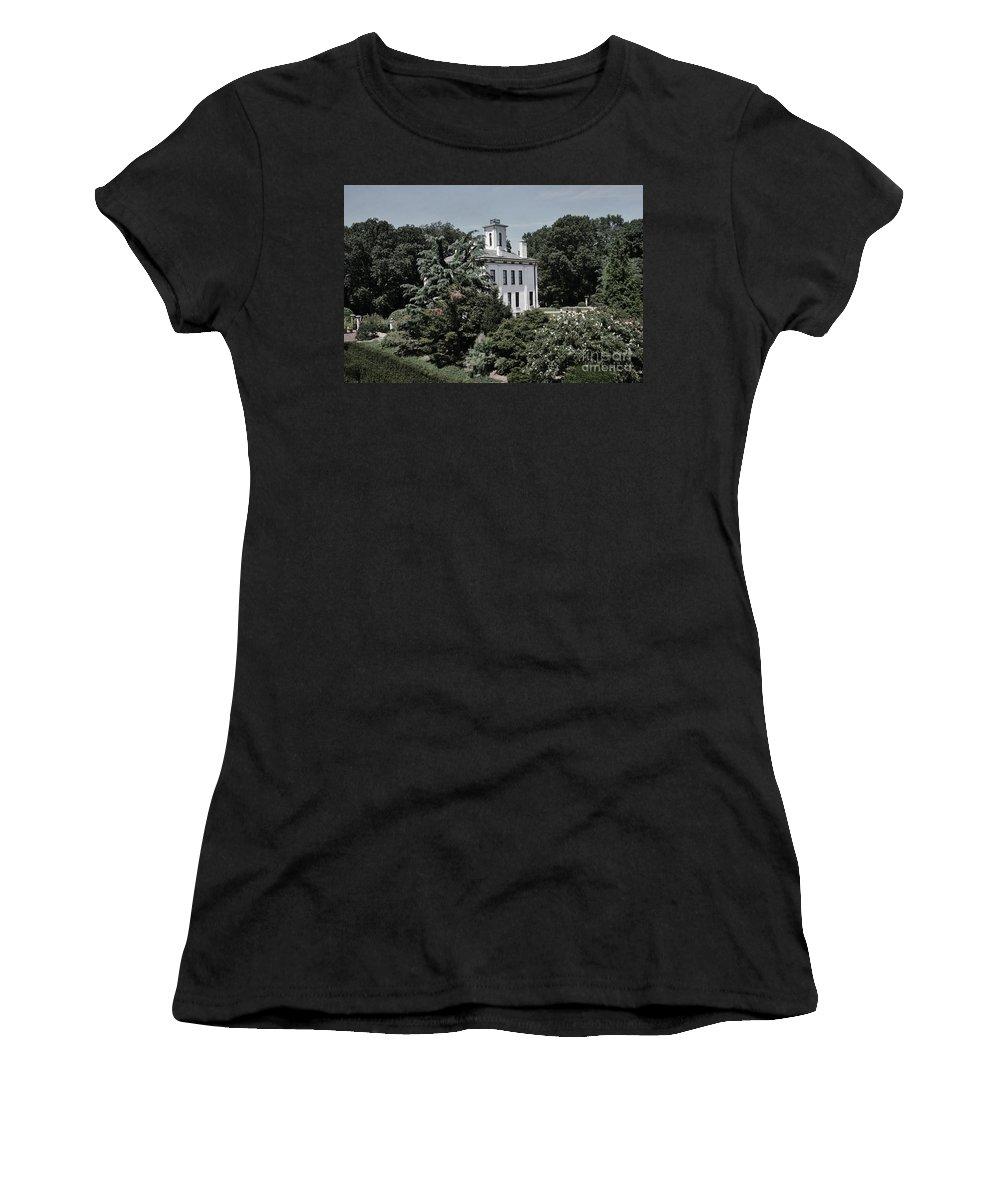 Missouri Botanical Garden-shaw Home Women's T-Shirt featuring the photograph Missouri Botanical Garden-shaw Home by Luther Fine Art