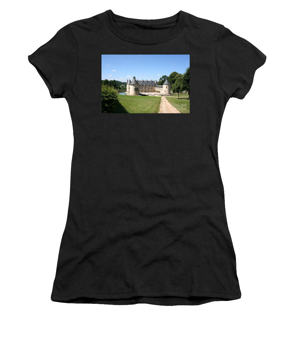 Palace Women's T-Shirt (Athletic Fit) featuring the photograph Moated Palace - Bussy-rabutin by Christiane Schulze Art And Photography
