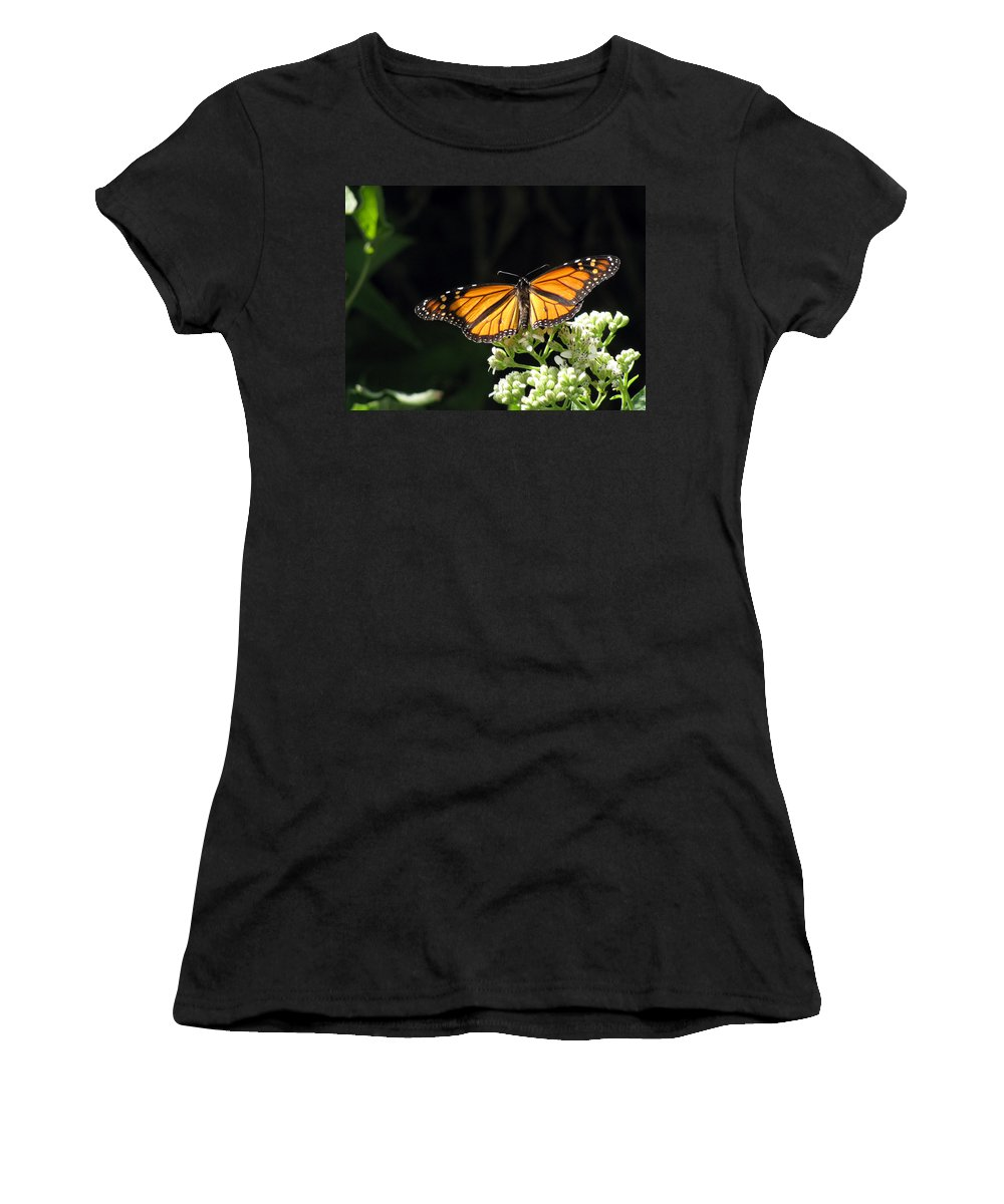 Butterfly Women's T-Shirt featuring the photograph Monarch Butterfly 61 by Pamela Critchlow