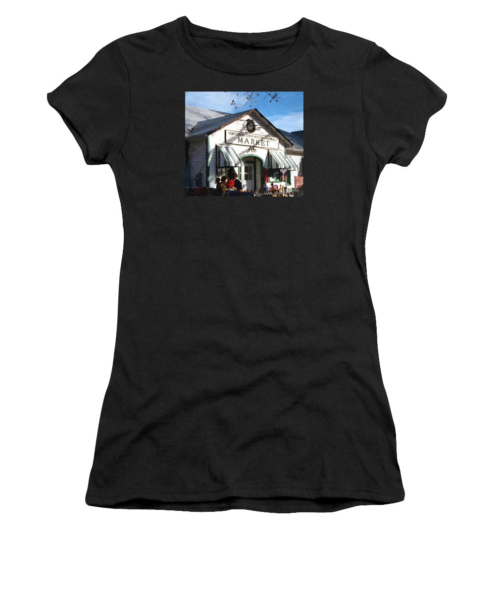 Americana Women's T-Shirt (Athletic Fit) featuring the painting Montgomery County Market by RC DeWinter