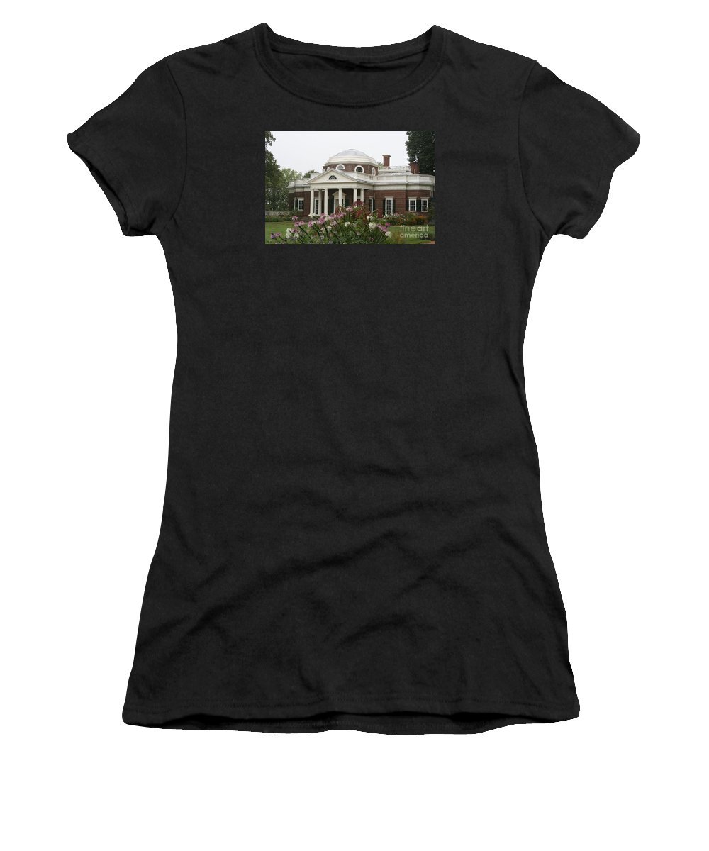 Monticello Women's T-Shirt (Athletic Fit) featuring the photograph Monticello Estate by Christiane Schulze Art And Photography