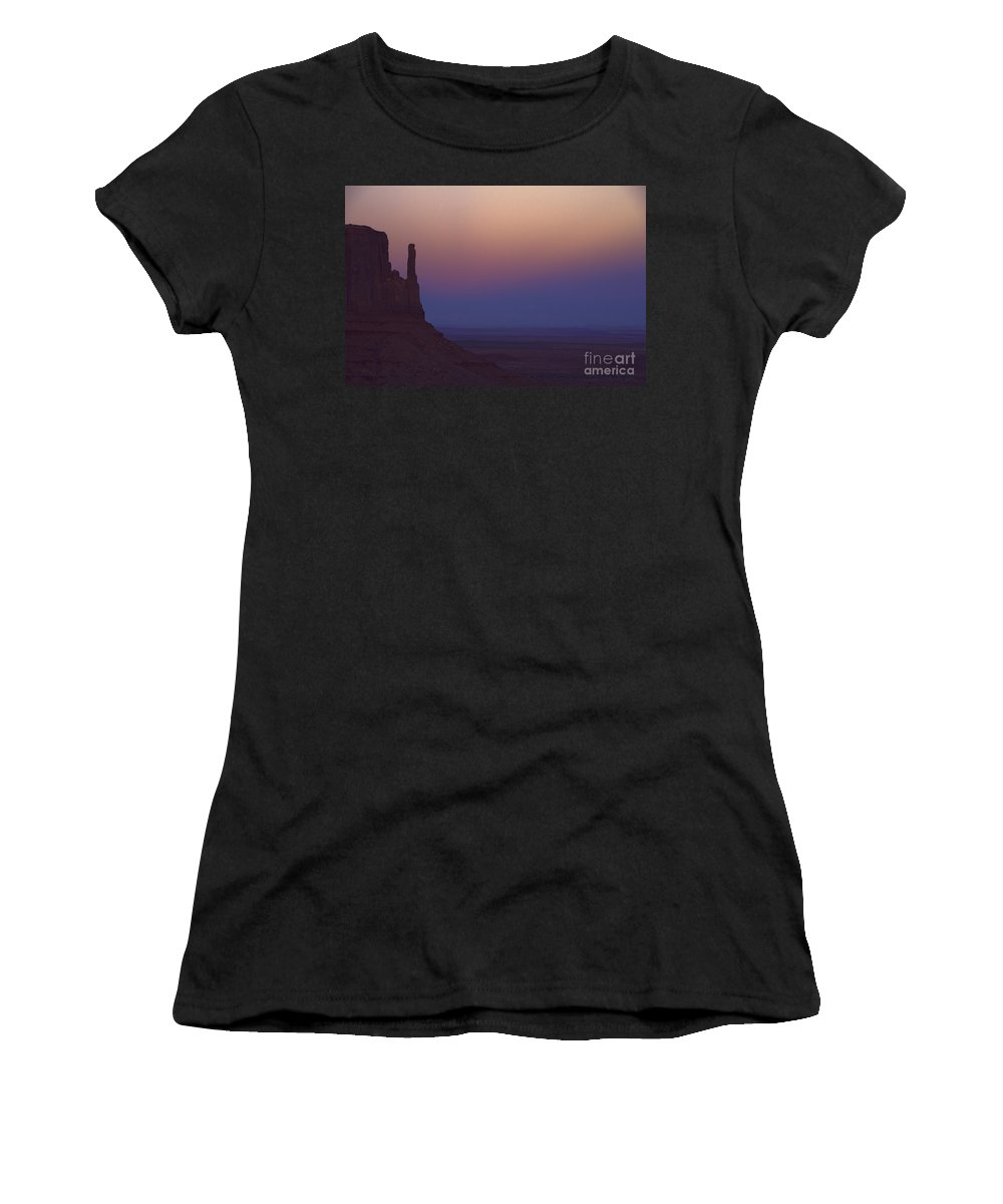 Monument Valley Women's T-Shirt (Athletic Fit) featuring the photograph Monument Valley -utah V3 by Douglas Barnard
