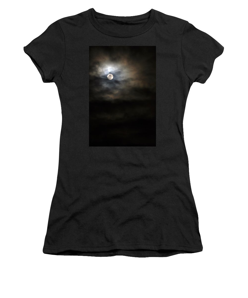Moonlight Women's T-Shirt (Athletic Fit) featuring the photograph Moon 3 by Allan Lovell