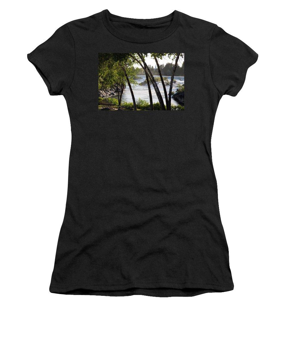 Idaho Falls Women's T-Shirt featuring the photograph Morning At Idaho Falls by John Daly