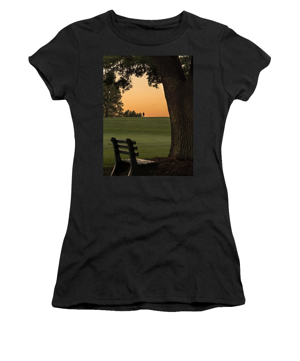 Manresa Women's T-Shirt featuring the photograph Morning Contemplation by Tony Tribou