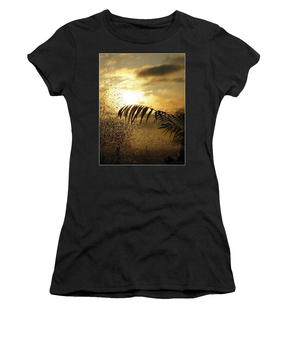 Morning Women's T-Shirt (Athletic Fit) featuring the photograph Morning Dew Screen by Joyce Dickens