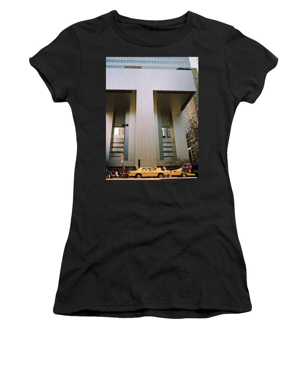 Dawn Women's T-Shirt (Athletic Fit) featuring the photograph A Beautiful New York Morning by Shaun Higson