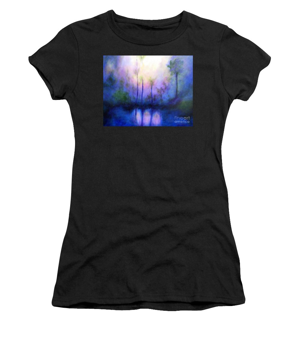 Impressionist Women's T-Shirt featuring the painting Morning Symphony by Alison Caltrider