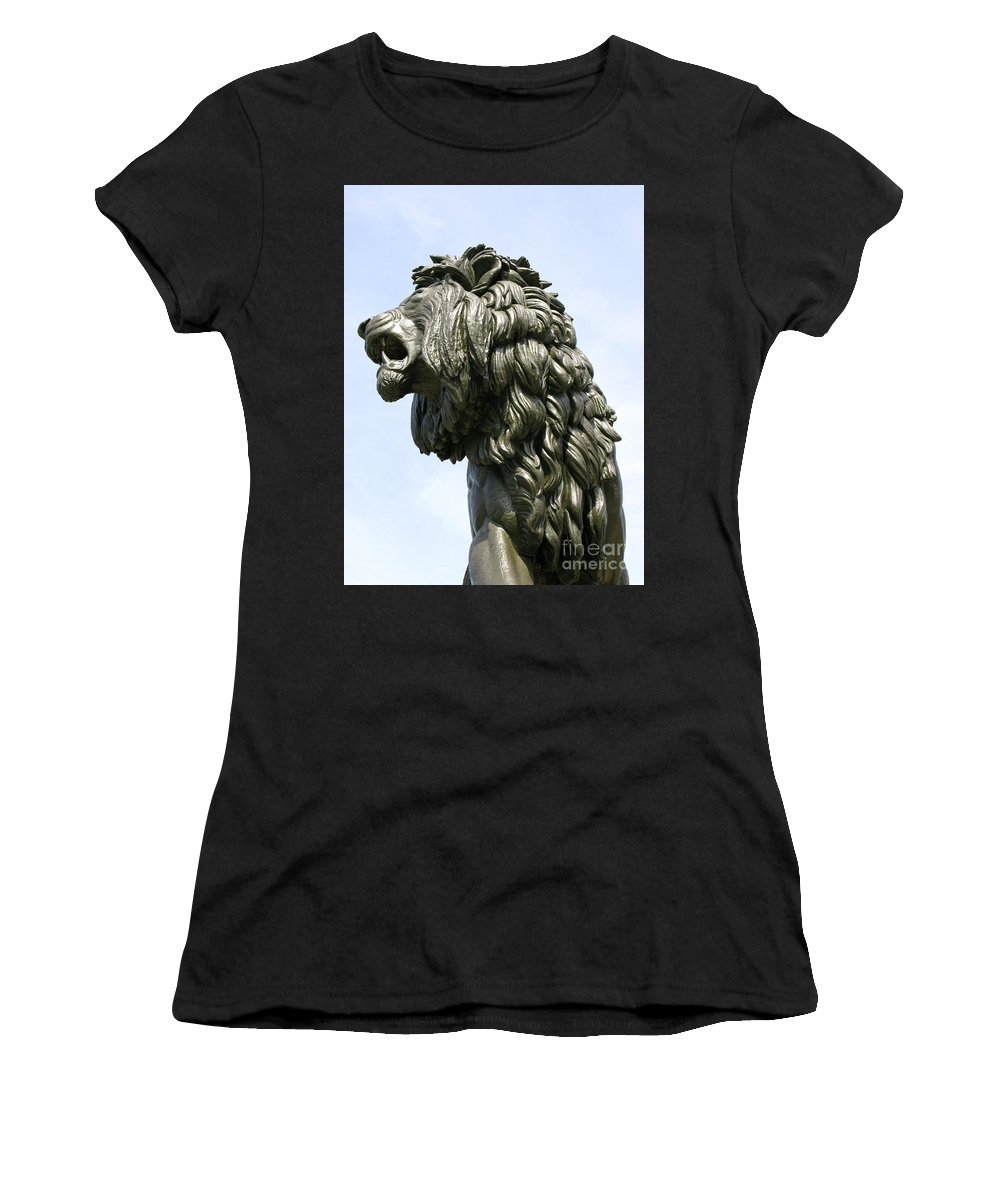 Statue Women's T-Shirt (Athletic Fit) featuring the photograph Mostly Mane by Ann Horn