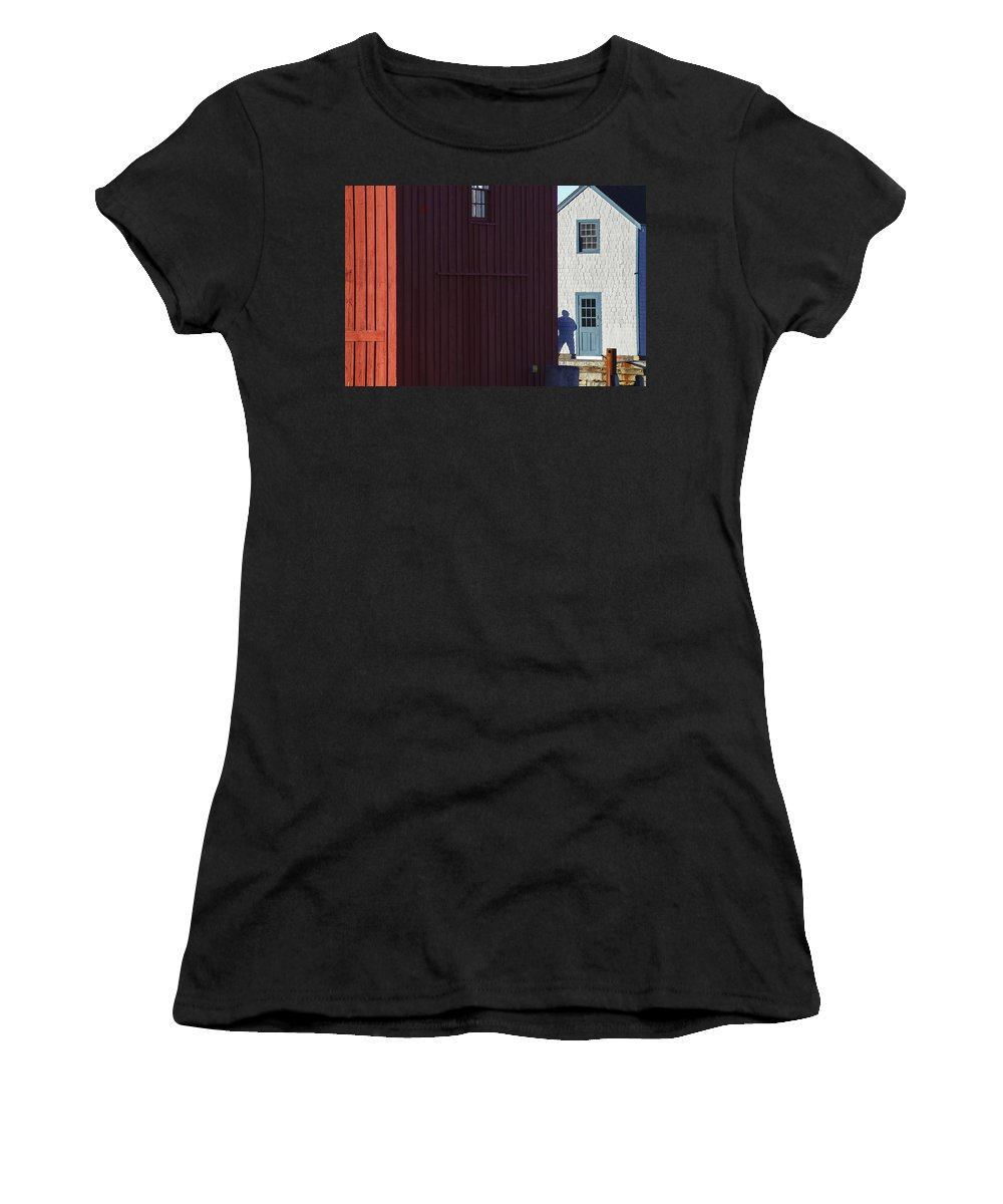 Motif #1 Women's T-Shirt featuring the photograph Motif #1 And Shadow by David Stone