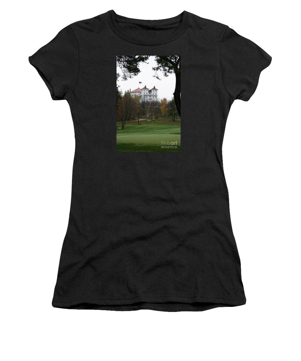 Mount Washington Women's T-Shirt featuring the photograph Mount Washington Hotel - Bretton Woods by Christiane Schulze Art And Photography