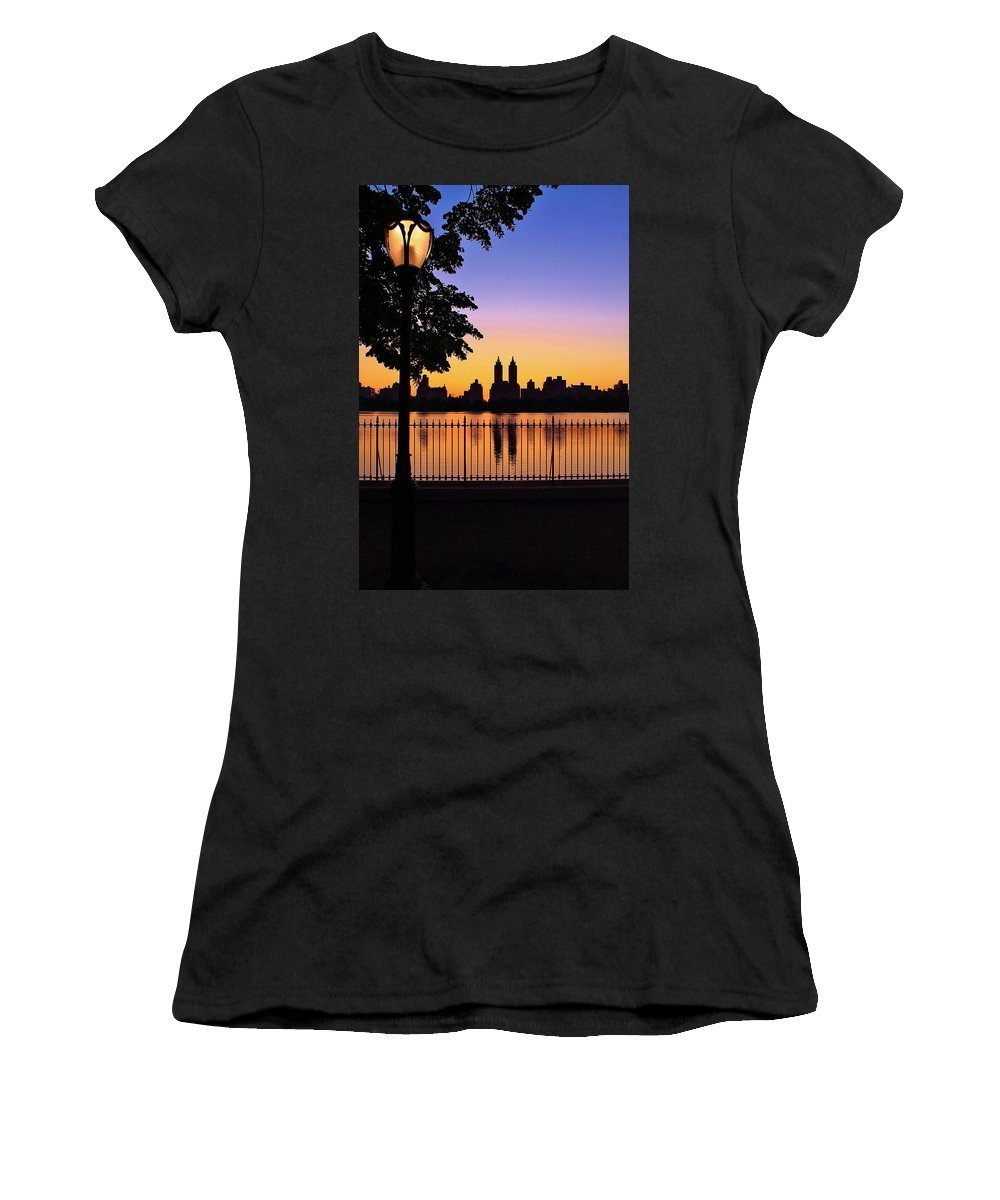 Sunset Women's T-Shirt featuring the photograph Movie Maker by Catie Canetti