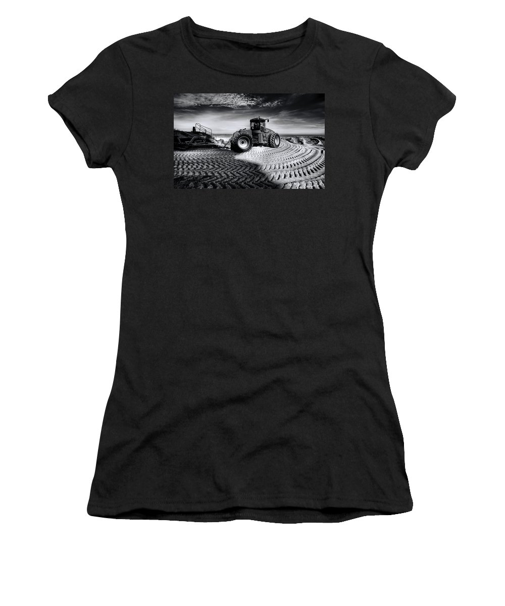 Dredge Women's T-Shirt featuring the photograph Moving Heaven And Earth by Wayne Sherriff