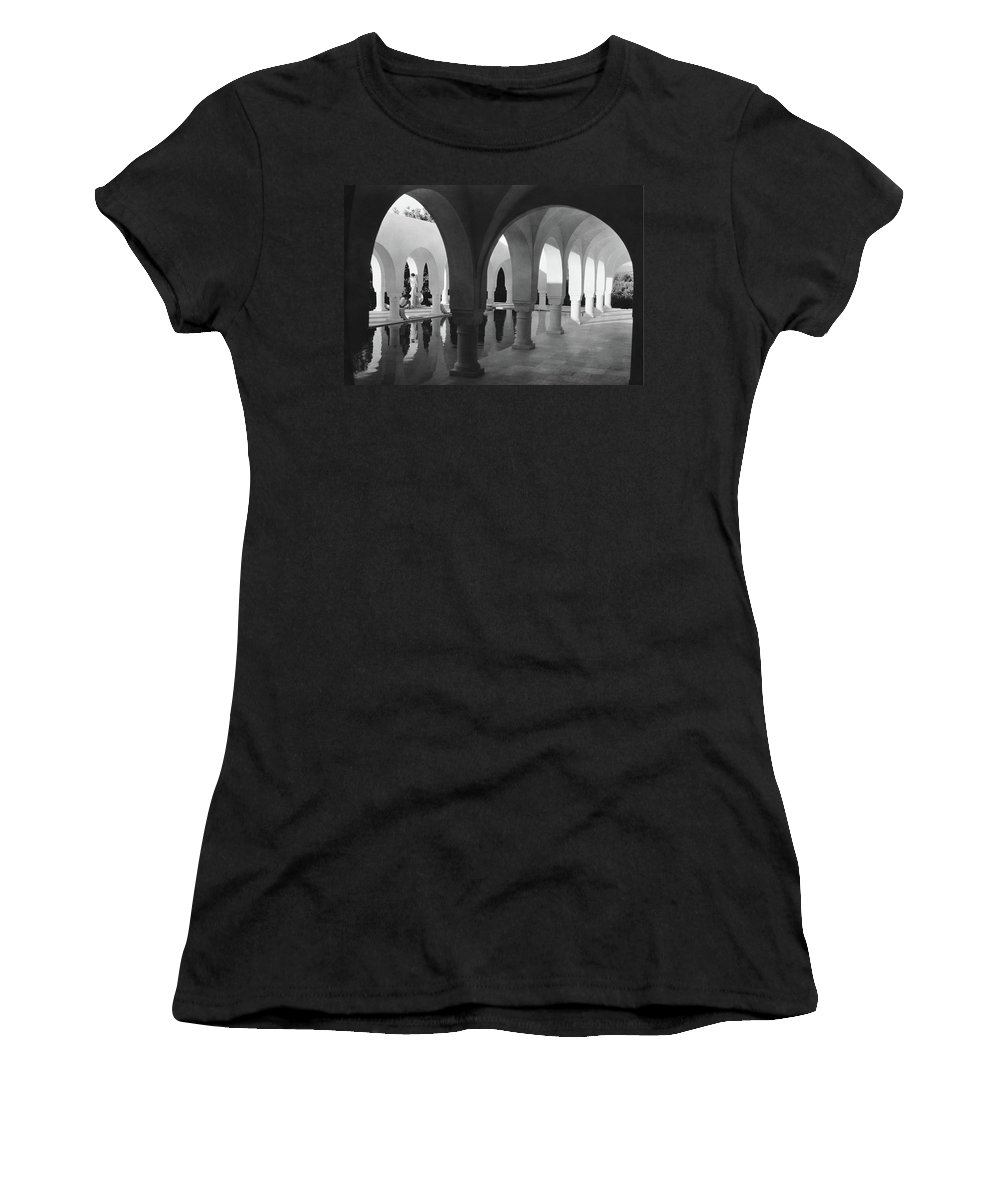 Exterior Women's T-Shirt featuring the photograph Mr George Sebastian And His Wife Next by George Hoyningen-Huene
