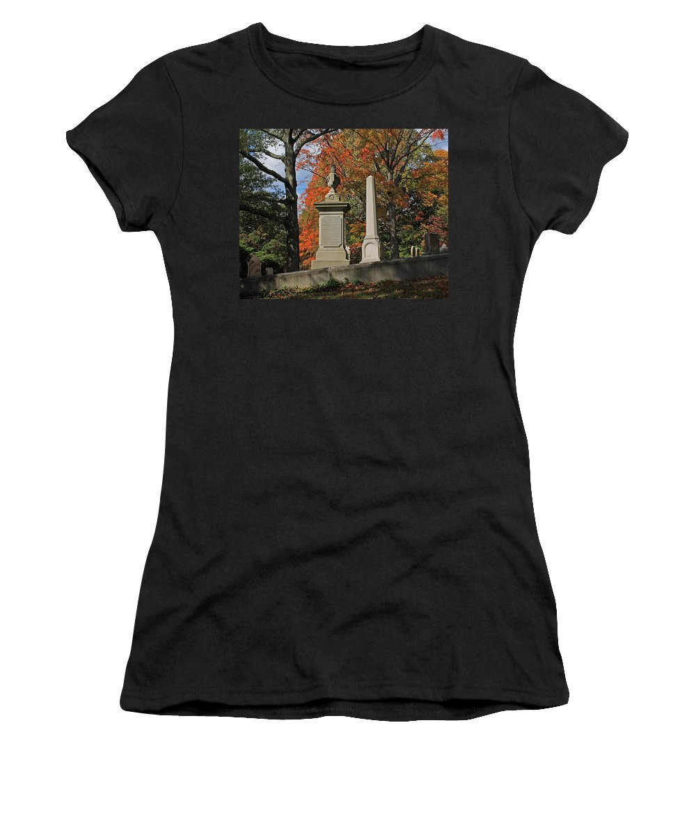 Mt Auburn Cemetery Women's T-Shirt featuring the photograph Mt Auburn Cemetery 10 by Michael Saunders