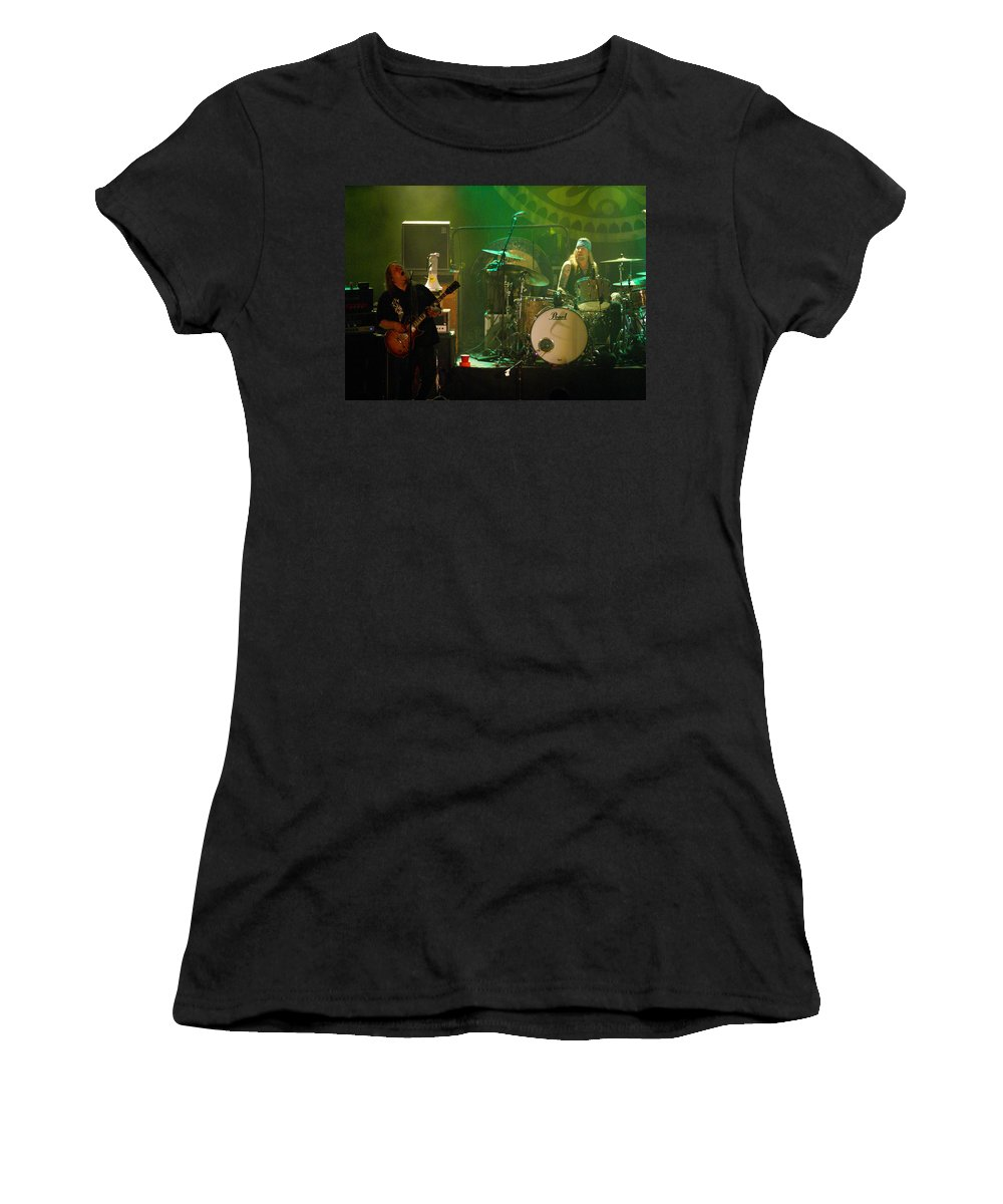 Gov't Mule Women's T-Shirt (Athletic Fit) featuring the photograph Mule #11 by Ben Upham