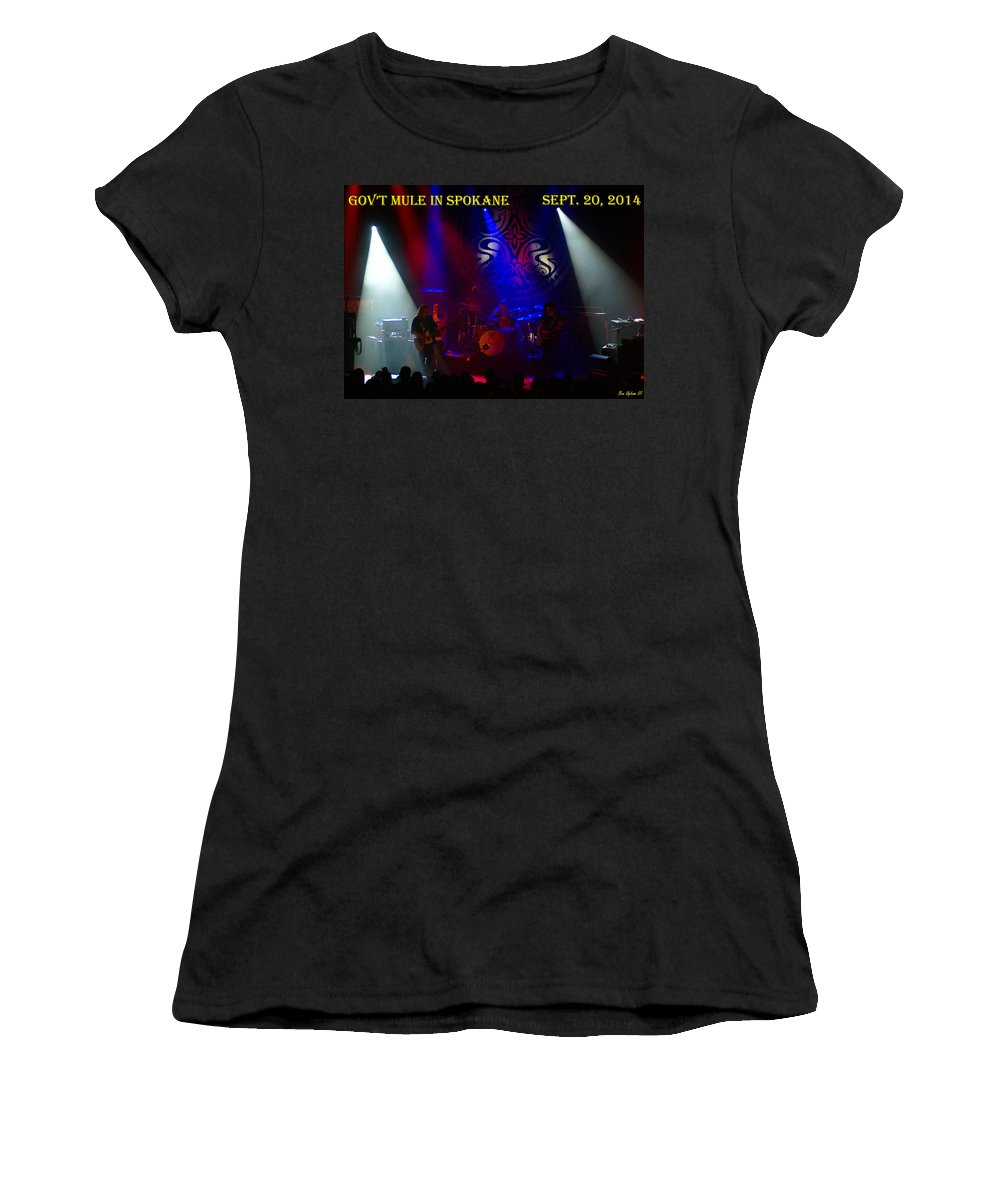 Gov't Mule Women's T-Shirt (Athletic Fit) featuring the photograph Mule #3 With Text by Ben Upham