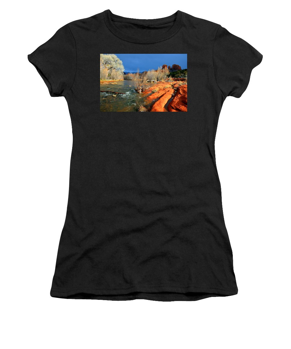 Arizona Women's T-Shirt (Athletic Fit) featuring the photograph My December by Miles Stites