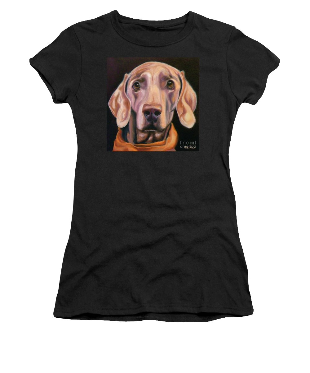 Dog Women's T-Shirt (Athletic Fit) featuring the painting My Kerchief by Susan A Becker