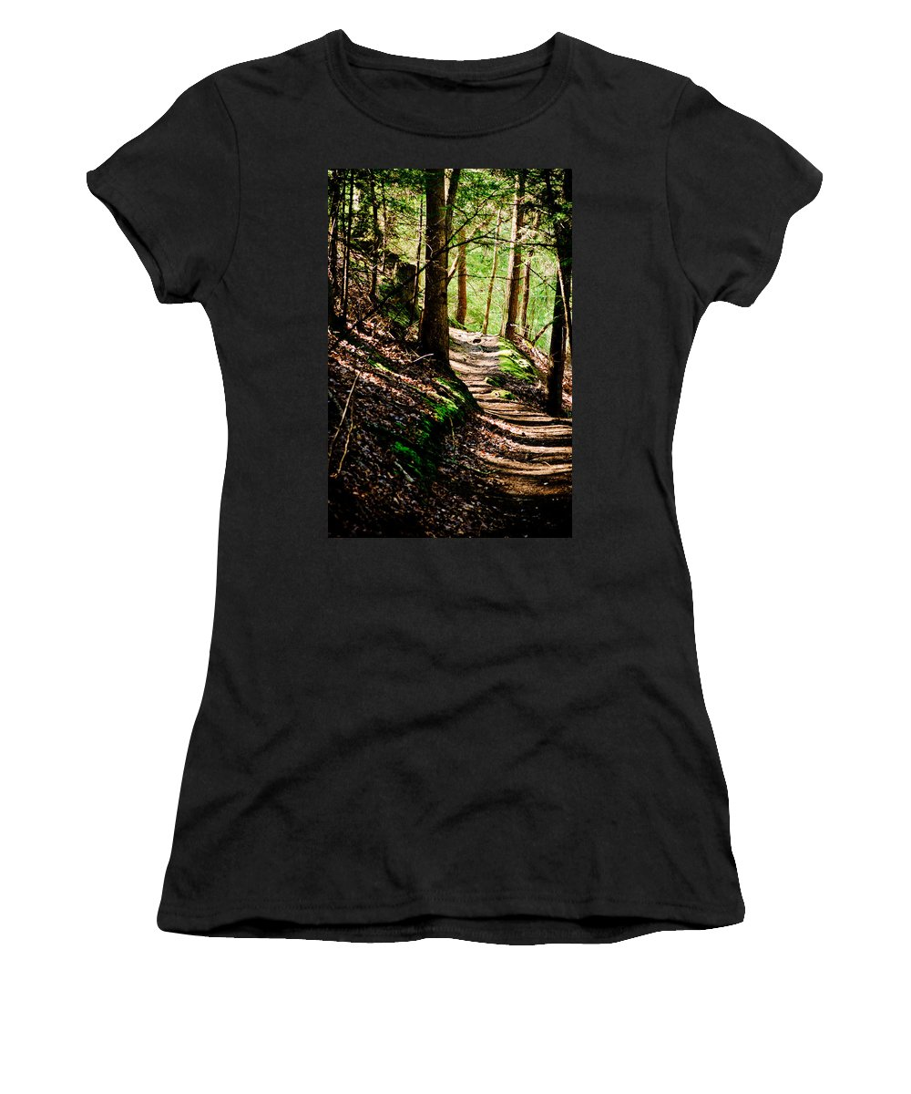 Path Women's T-Shirt (Athletic Fit) featuring the photograph My Path by Shirley Tinkham