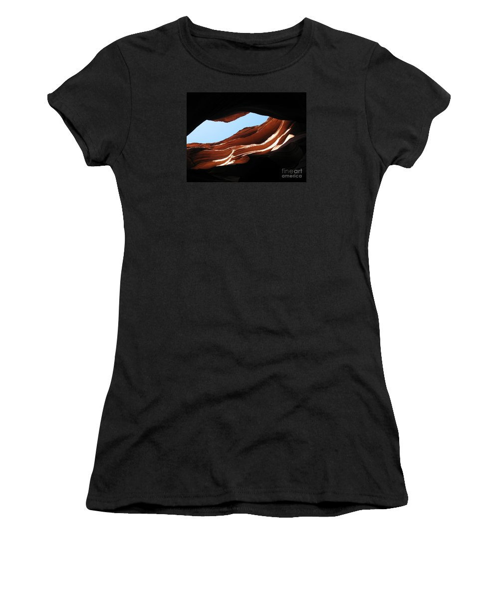 Canyon Women's T-Shirt (Athletic Fit) featuring the photograph Narrow Canyon Vi by Christiane Schulze Art And Photography