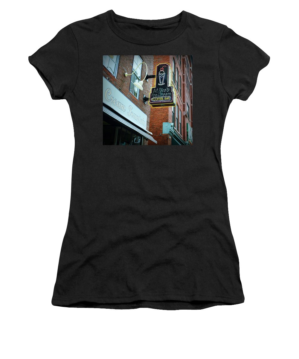 Nashville Women's T-Shirt (Athletic Fit) featuring the digital art Nashville On Film by Linda Unger