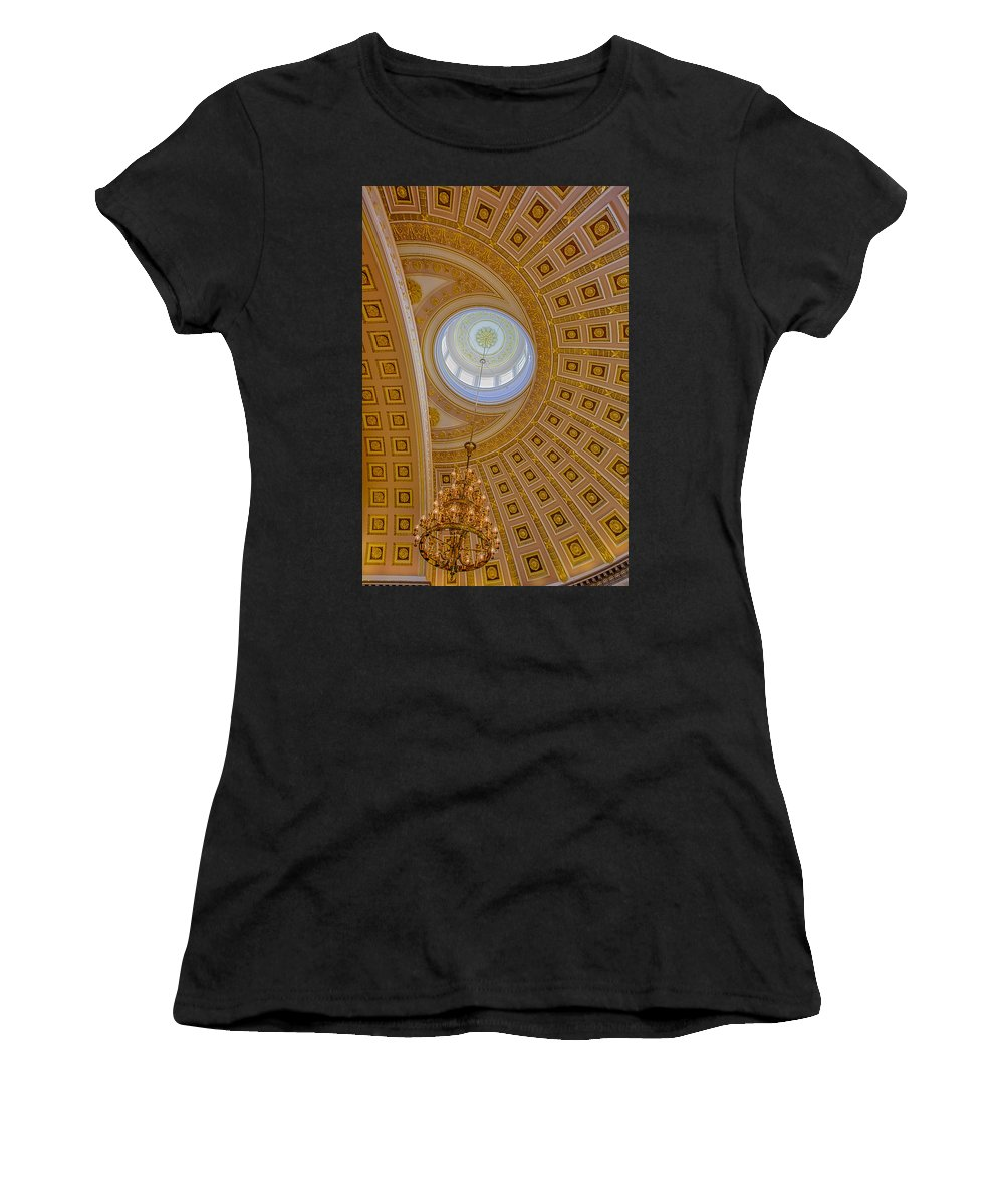 Capitol Hill Women's T-Shirt (Athletic Fit) featuring the photograph National Statuary Rotunda by Susan Candelario