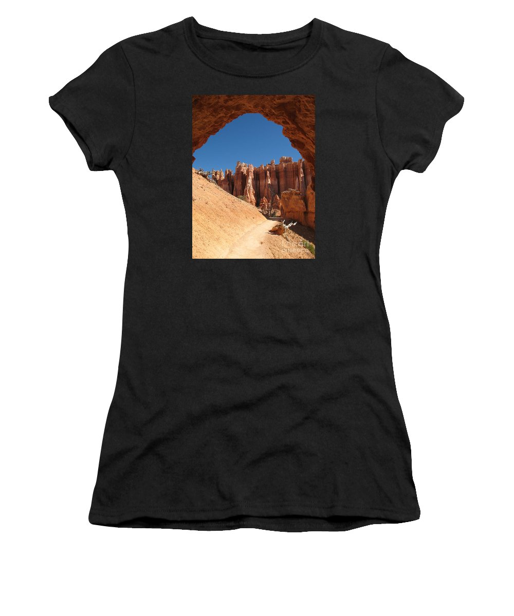 Arch Women's T-Shirt (Athletic Fit) featuring the photograph Natural Archway - Bryce Canyon by Christiane Schulze Art And Photography