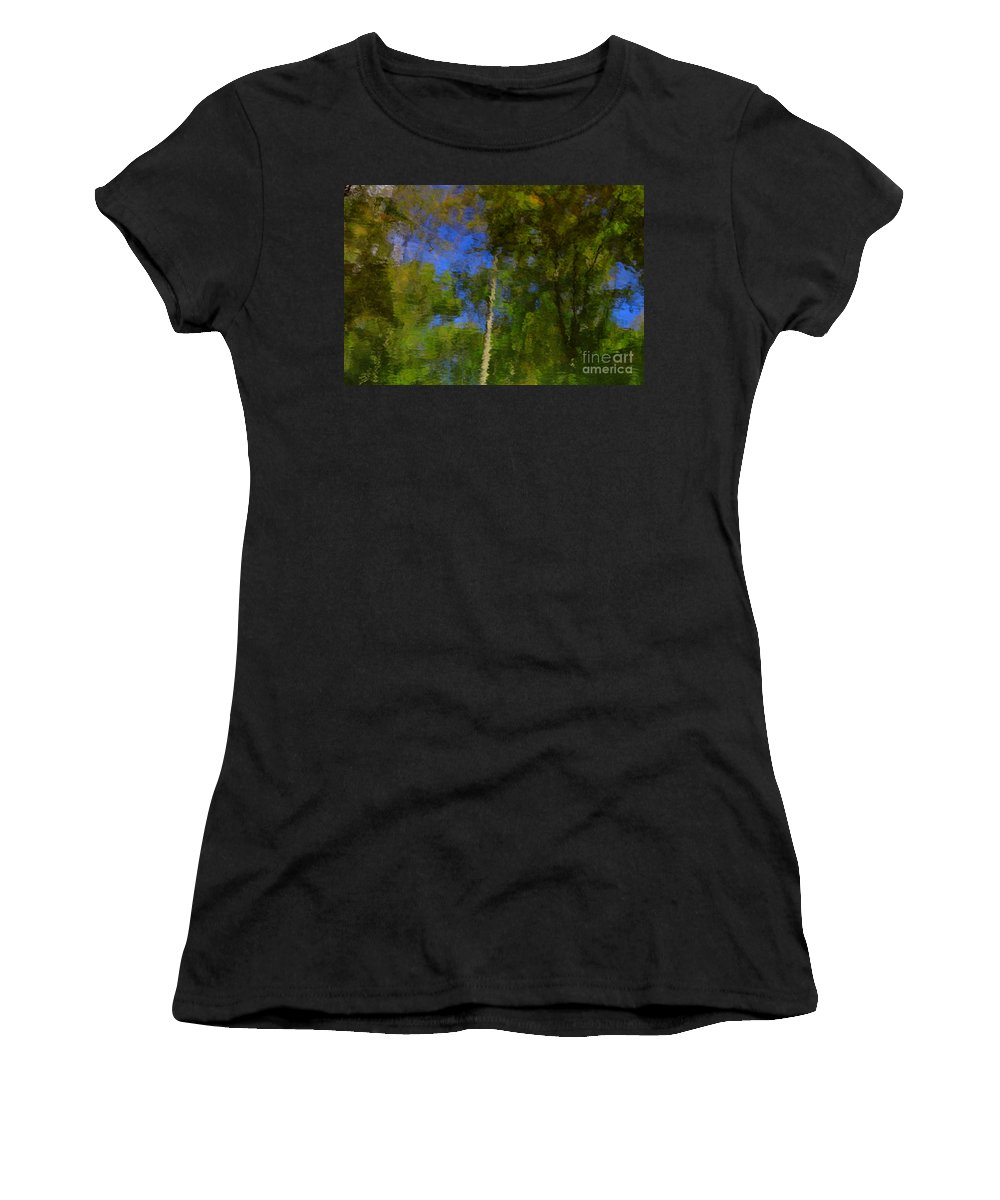 Nature Women's T-Shirt (Athletic Fit) featuring the photograph Nature Reflecting by Melissa Petrey