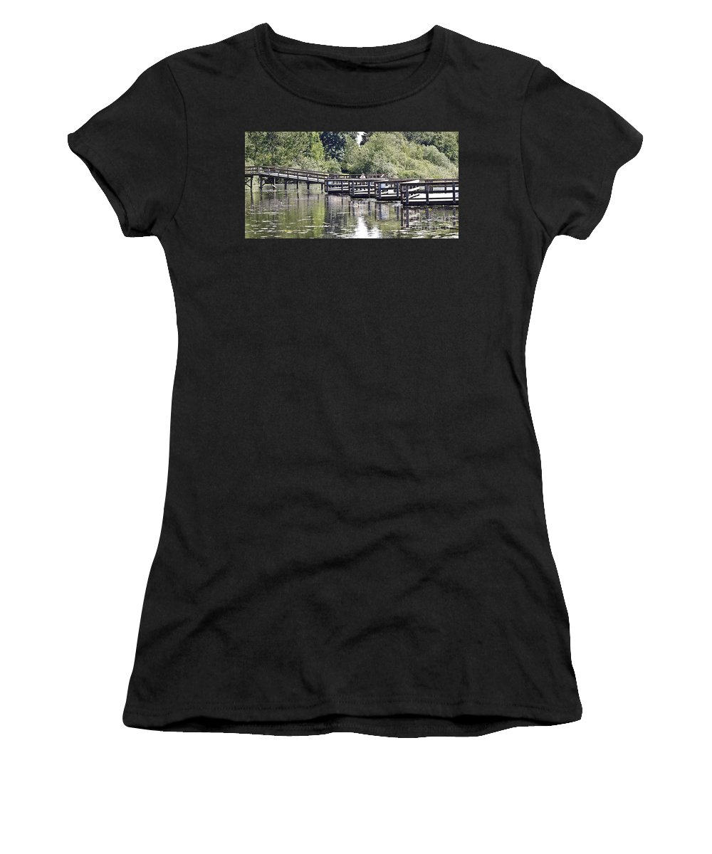 Nature Walk Women's T-Shirt (Athletic Fit) featuring the photograph Nature Walk by David Fabian