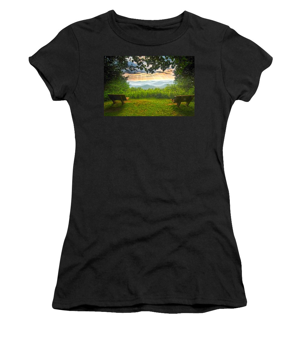 Nature's Theater Women's T-Shirt (Athletic Fit) featuring the photograph Nature's Theater by Randall Branham